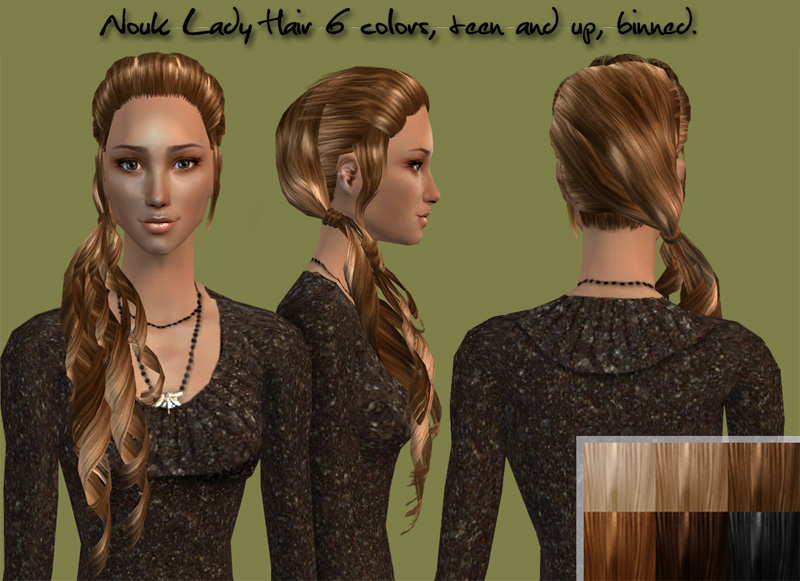 Mod The Sims Nouk Lady Hair Side Ponytail For Your