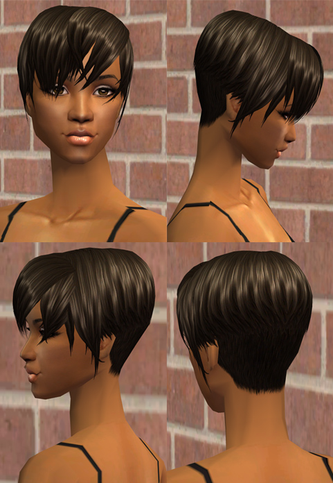 Mod The Sims Nouk Andre Hair Short Hair For The Ladies