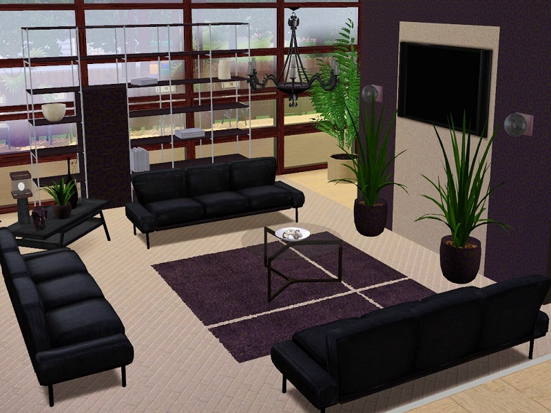 Mod the sims larroville pearl 3 bedrooms loft gym for Living room ideas sims 3