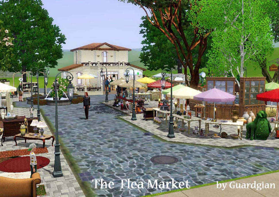 Mod The Sims - The Flea Market (works as a consignment shop)