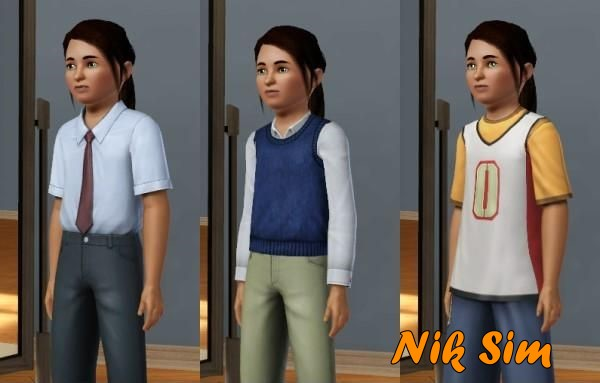 Mod The Sims - Boys' clothes for Girl
