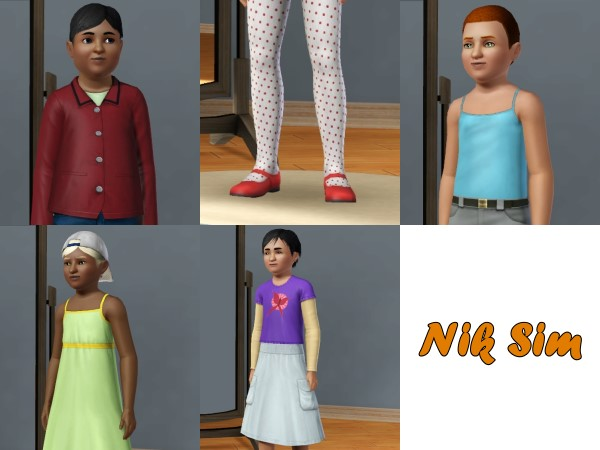 Mod The Sims - Girls' clothes for boys