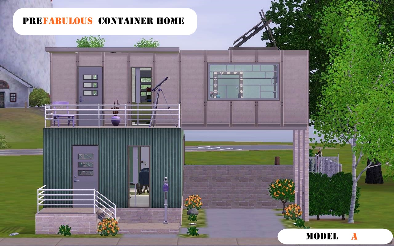 Mod the sims prefabulous container home model a - Container home info ...