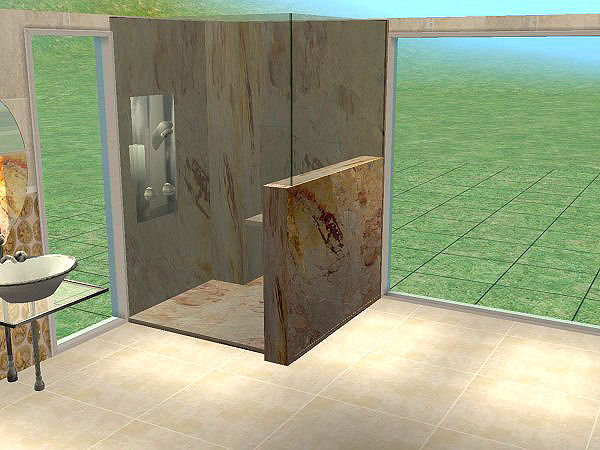 Mod The Sims Double Marble Frameless Glass Showers