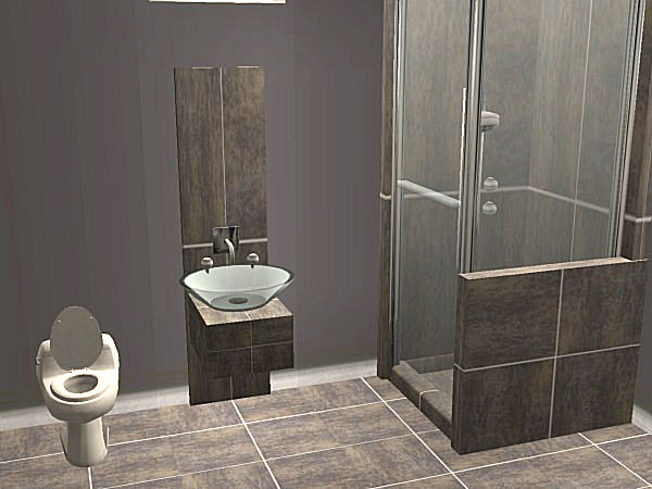 Shower Tile Patterns >> Mod The Sims - Chrome Edition Glass Tile Shower and Sink