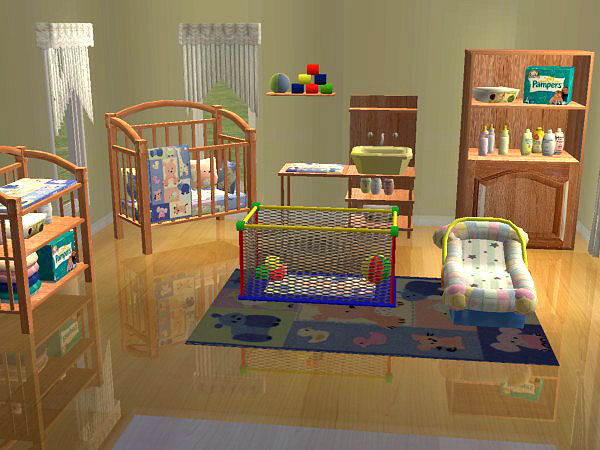 Mod the sims the 3000 totts baby 39 s dream for Cuartos para ninos sims 4