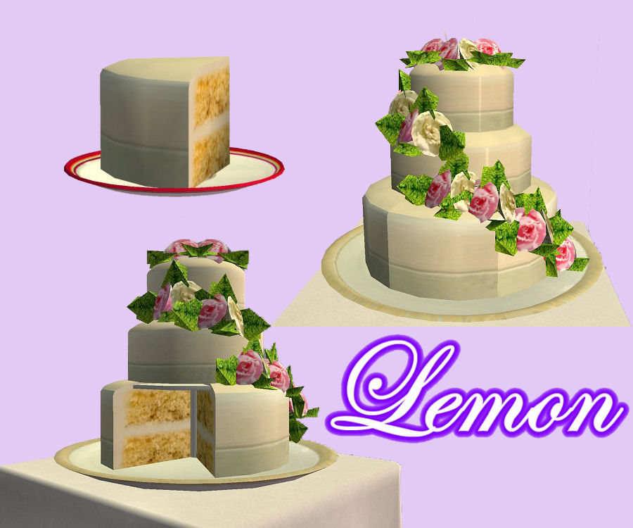 Sims  Wedding Cake Cc