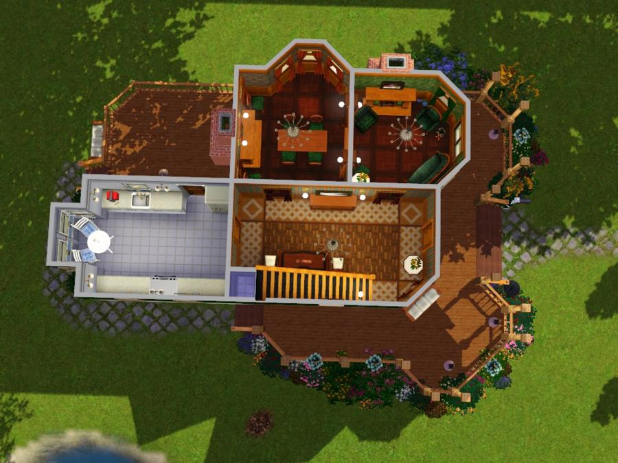 Mod The Sims - Laura Hawkins House - Ca. 1897 Queen Anne