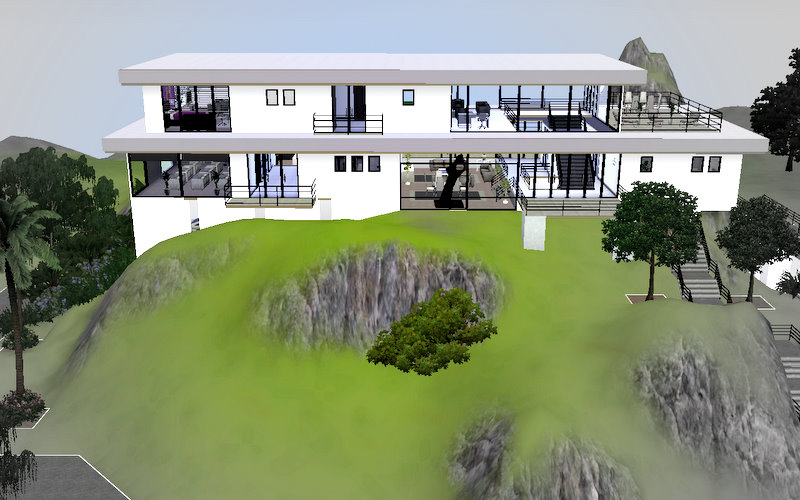 Mod the sims hollywood luxury modern mansion 39 the for Big modern house sims 4
