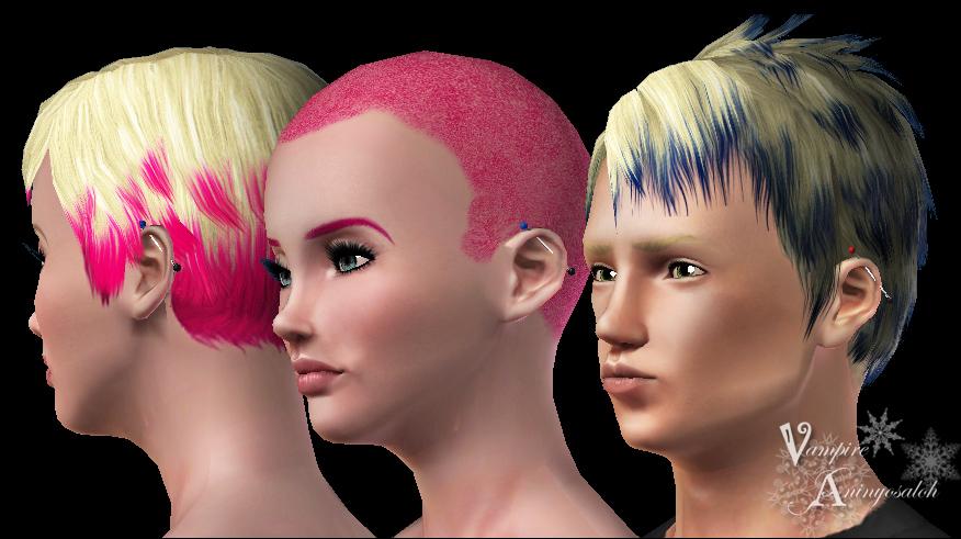 Mod The Sims Industrial Piercing Ear Piercing