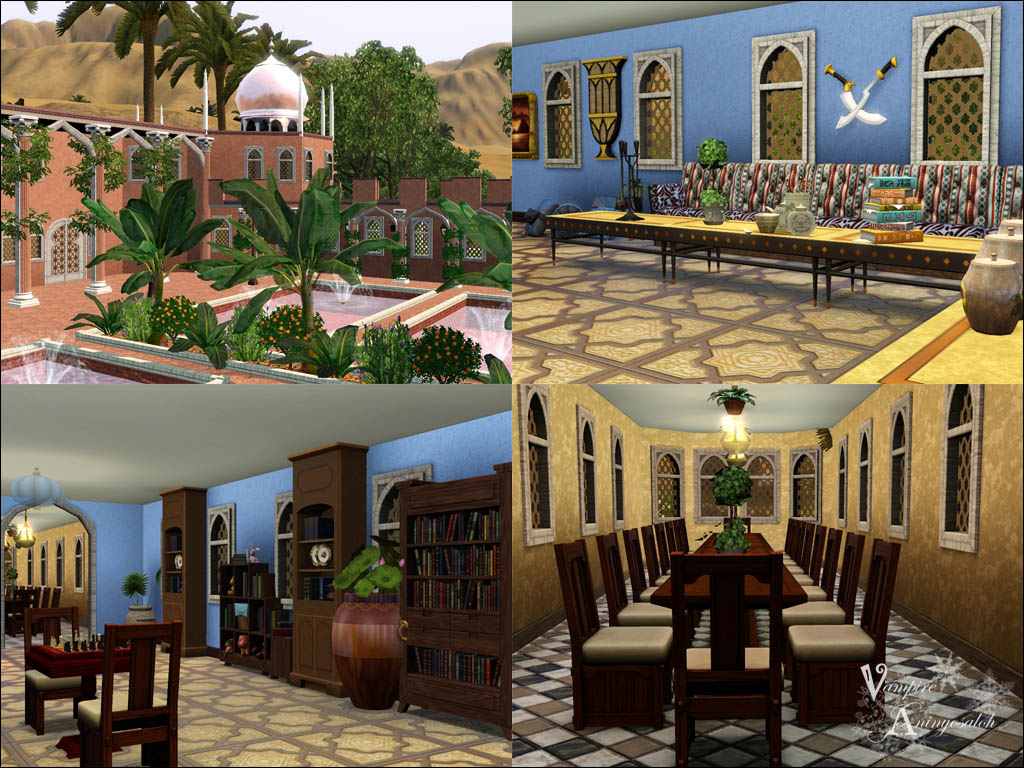 Mod The Sims Villa Kaml With New Arabic Custom Content
