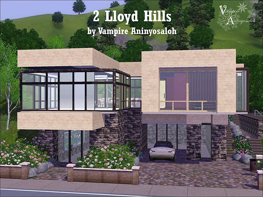 Mod the sims 2 lloyd hills no cc for Modern house design the sims 3