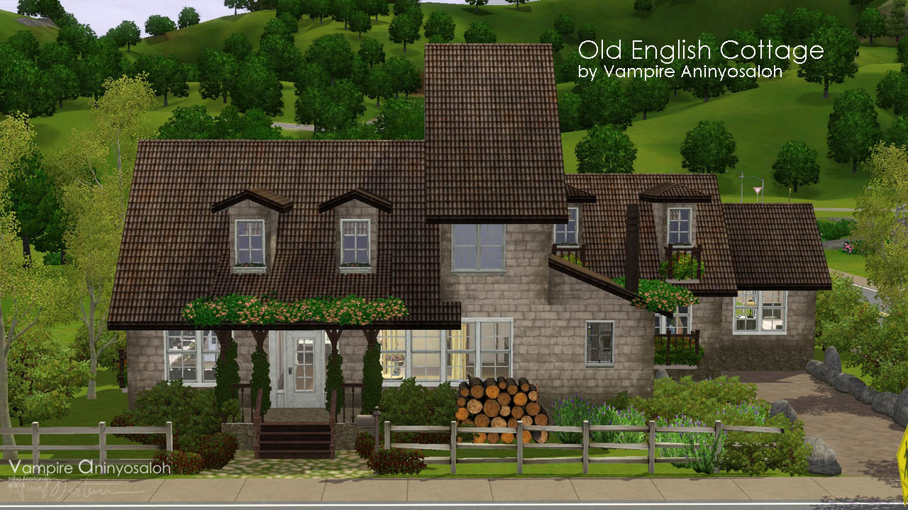 Mod the sims old english cottage no cc for Classic house sims 3