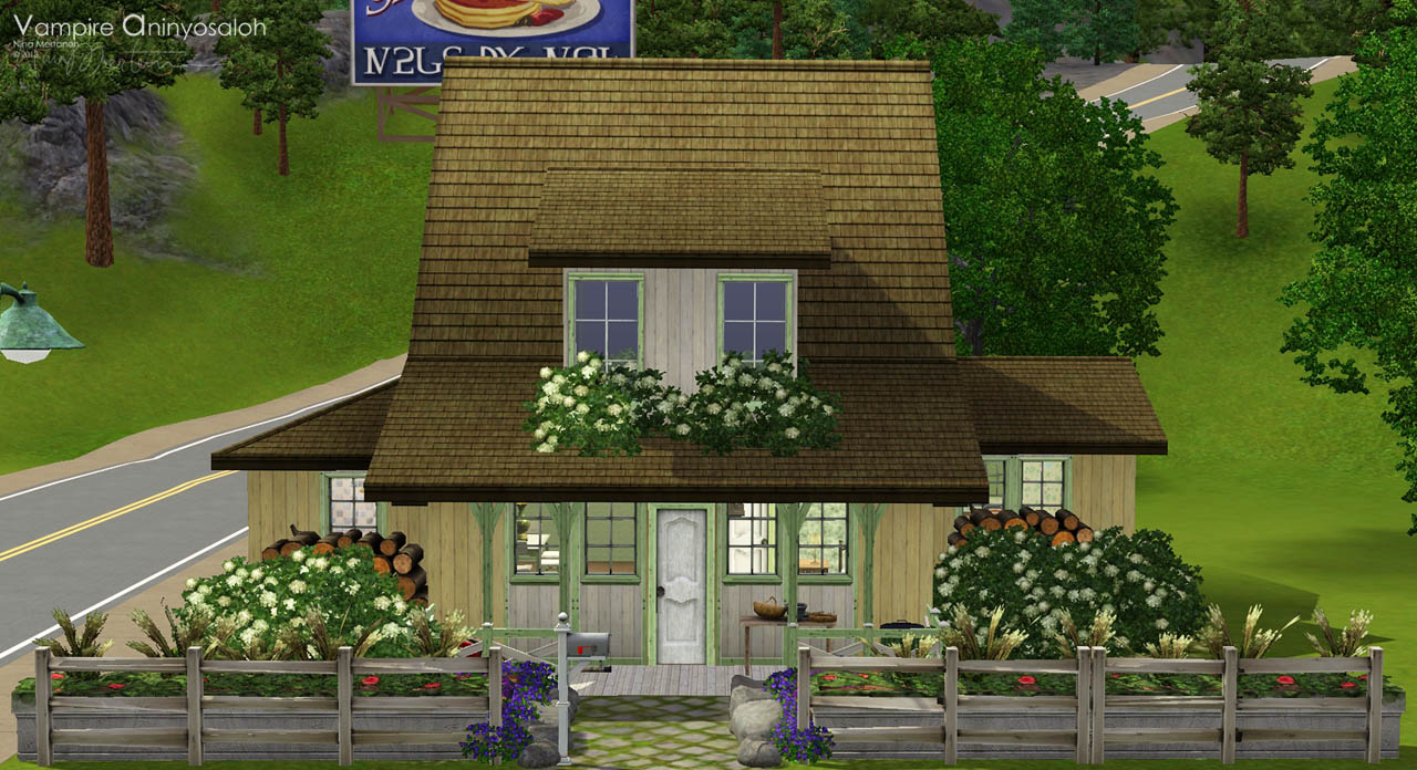 Mod The Sims Key Lime Pie Cottage Starter For A Family