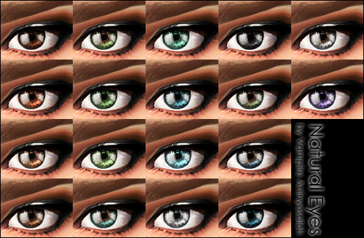 Mod The Sims - Natural Eyes -default+non-default-