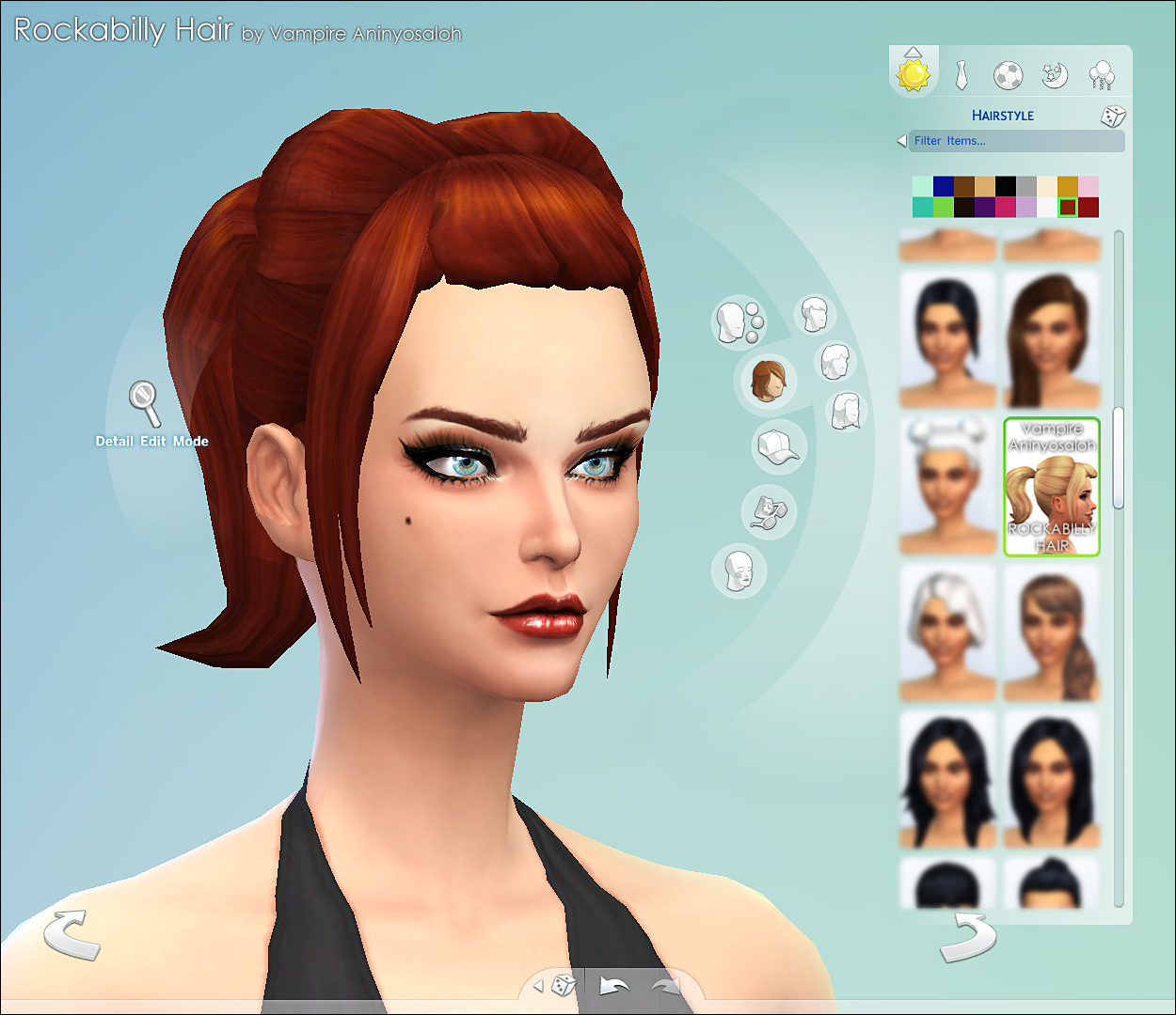 Advertisement. Mod The Sims   Rockabilly Hair  NEW MESH