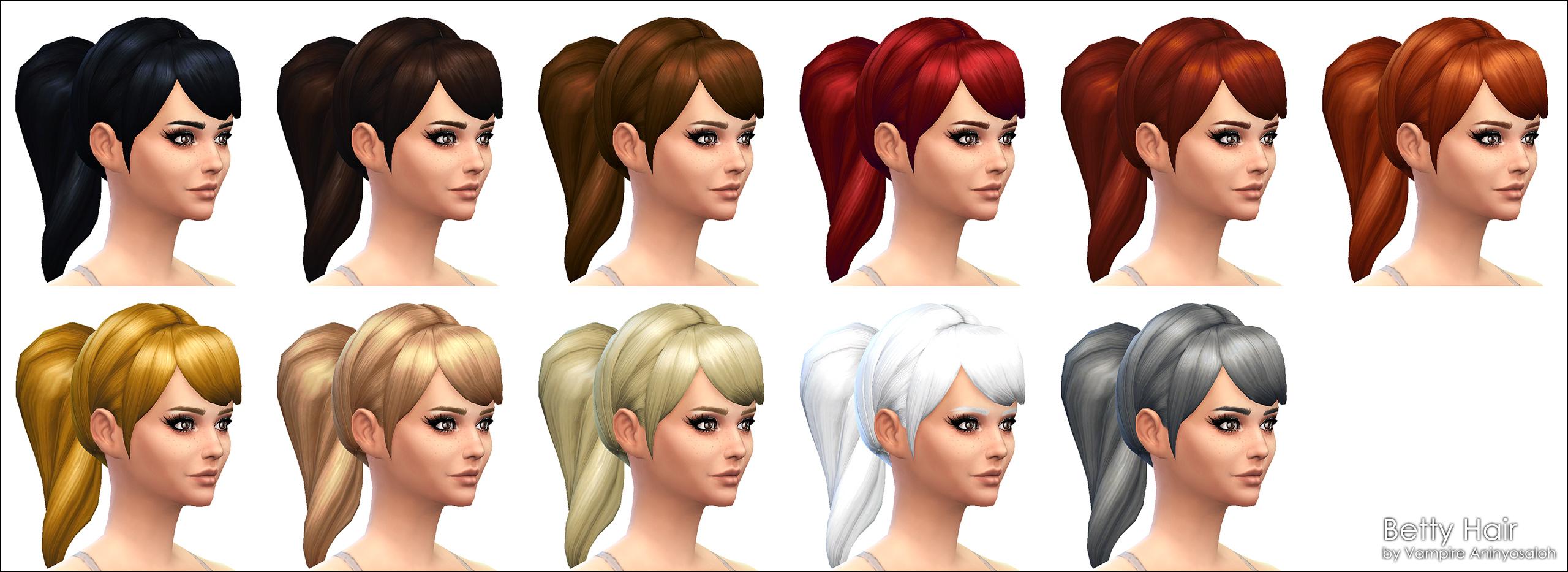 Mod The Sims Betty Hair New Mesh
