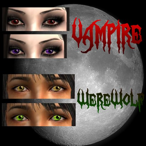 Mod The Sims Vampire And Werewolf Contacts