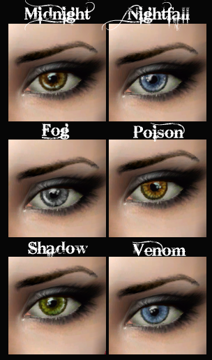 Mod The Sims The Eye Project 6 Sets Of Eyes 72 Eyes