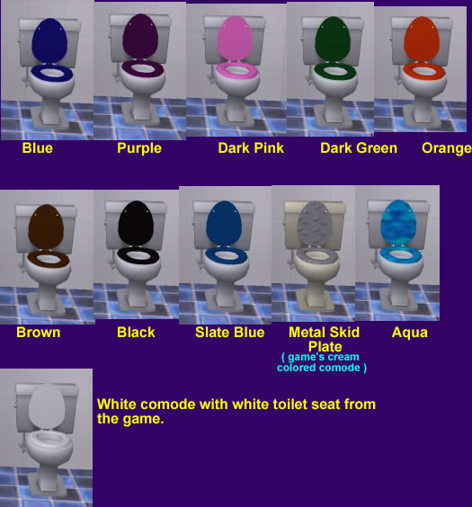 Wondrous Mod The Sims Toilet Seats With More Color Choices Unemploymentrelief Wooden Chair Designs For Living Room Unemploymentrelieforg