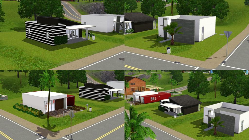 Mod the sims casa moderna 3 modern starter homes 2 for Planos de casas sims