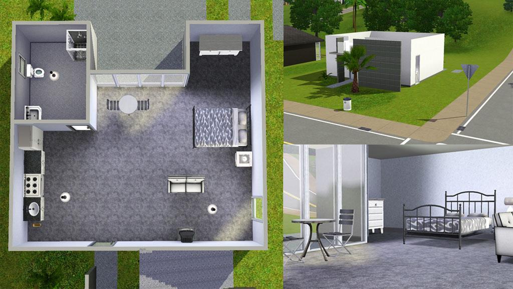 Mod the sims casa moderna 3 modern starter homes 2 for Casa moderna wiki