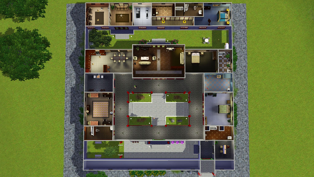 Mod The Sims Jade Traditional Chinese Courtyard House