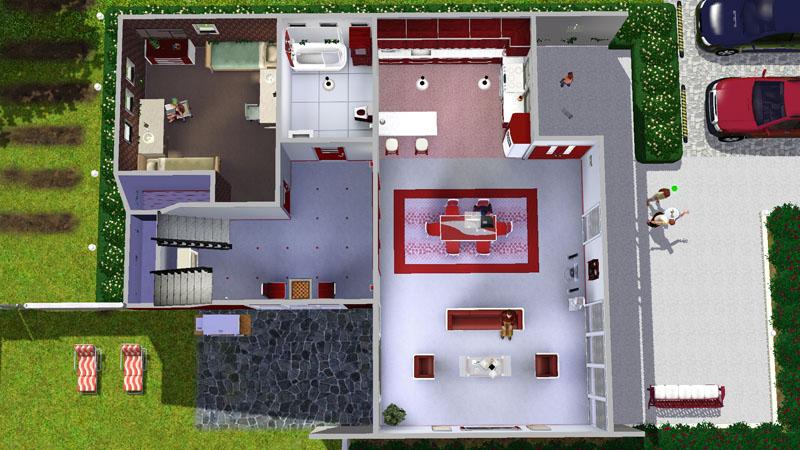 Mod The Sims Casa Moderna Rosso Bigger Non Starter