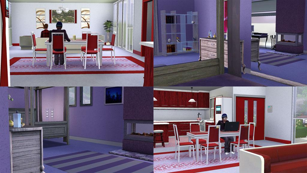 Mod the sims casa moderna rosso bigger non starter for Sims 4 modelli di casa moderna