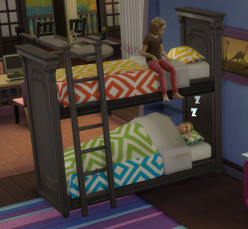 Mod The Sims - Functional Bunk Bed! - Fixed April 2015