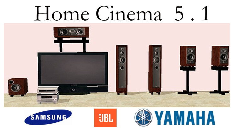 mod the sims home cinema 5 1 full equipment. Black Bedroom Furniture Sets. Home Design Ideas