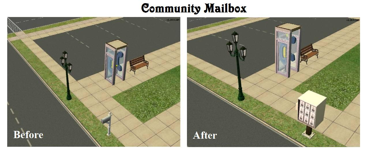 Mod The Sims - AL Multi-Mailbox for Non-Apartment Use, with ...