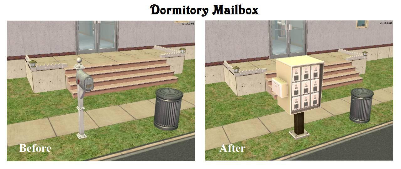 Mod The Sims Al Multi Mailbox For Non Apartment Use With