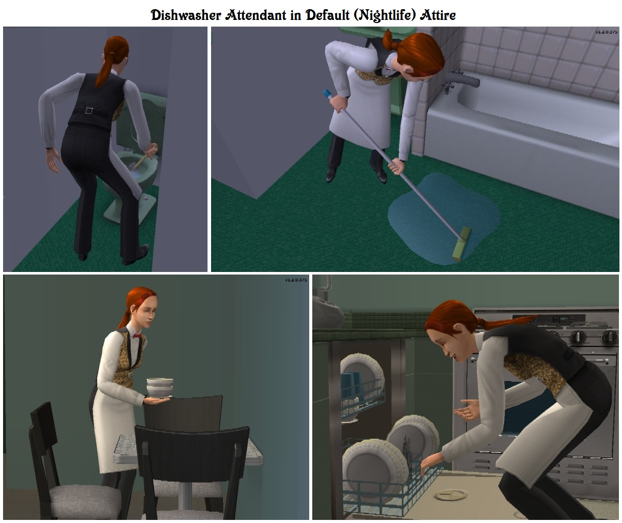 Mod The Sims Maintenance Free Dishwasher with NPC Worker No – Dishwasher Job Description