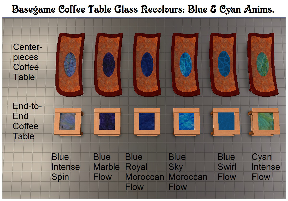 mod the sims 140 tiny filesize glass coffee table recolours