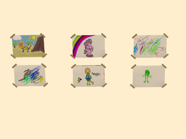 Mod The Sims More Children Drawings For Your Walls
