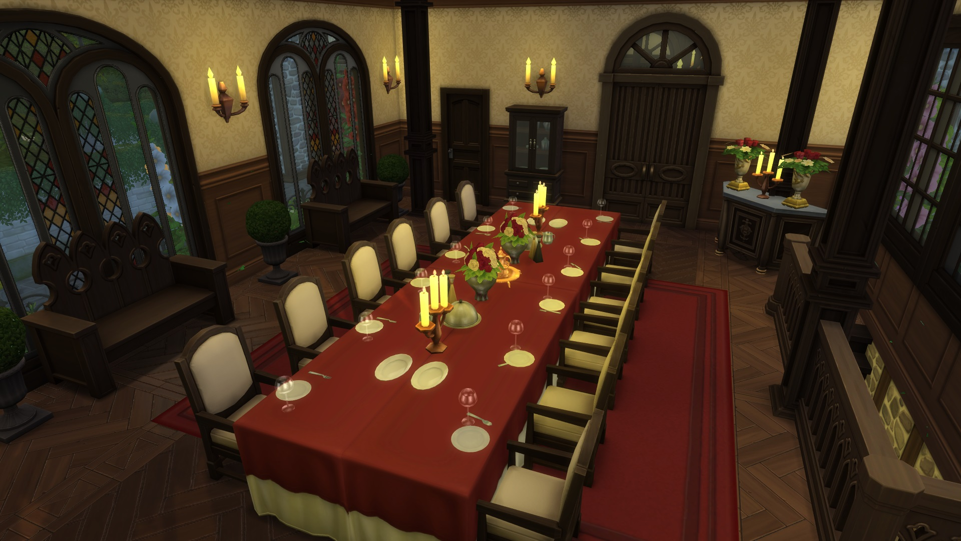 mod the sims hall of flames estate with a story no cc