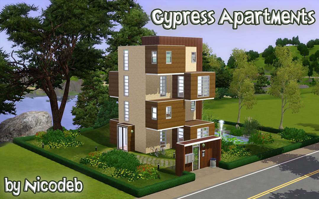 Mod the sims cypress apartments for Appartement design sims 3