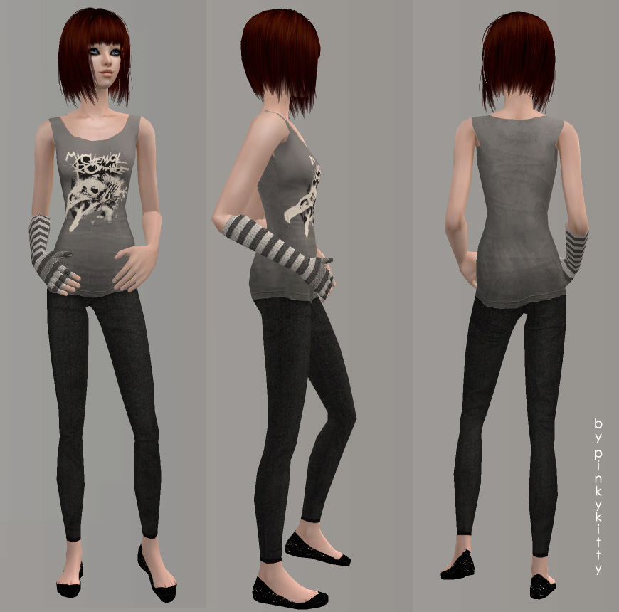 Mod The Sims - 2 My Chemical Romance outifts for TF