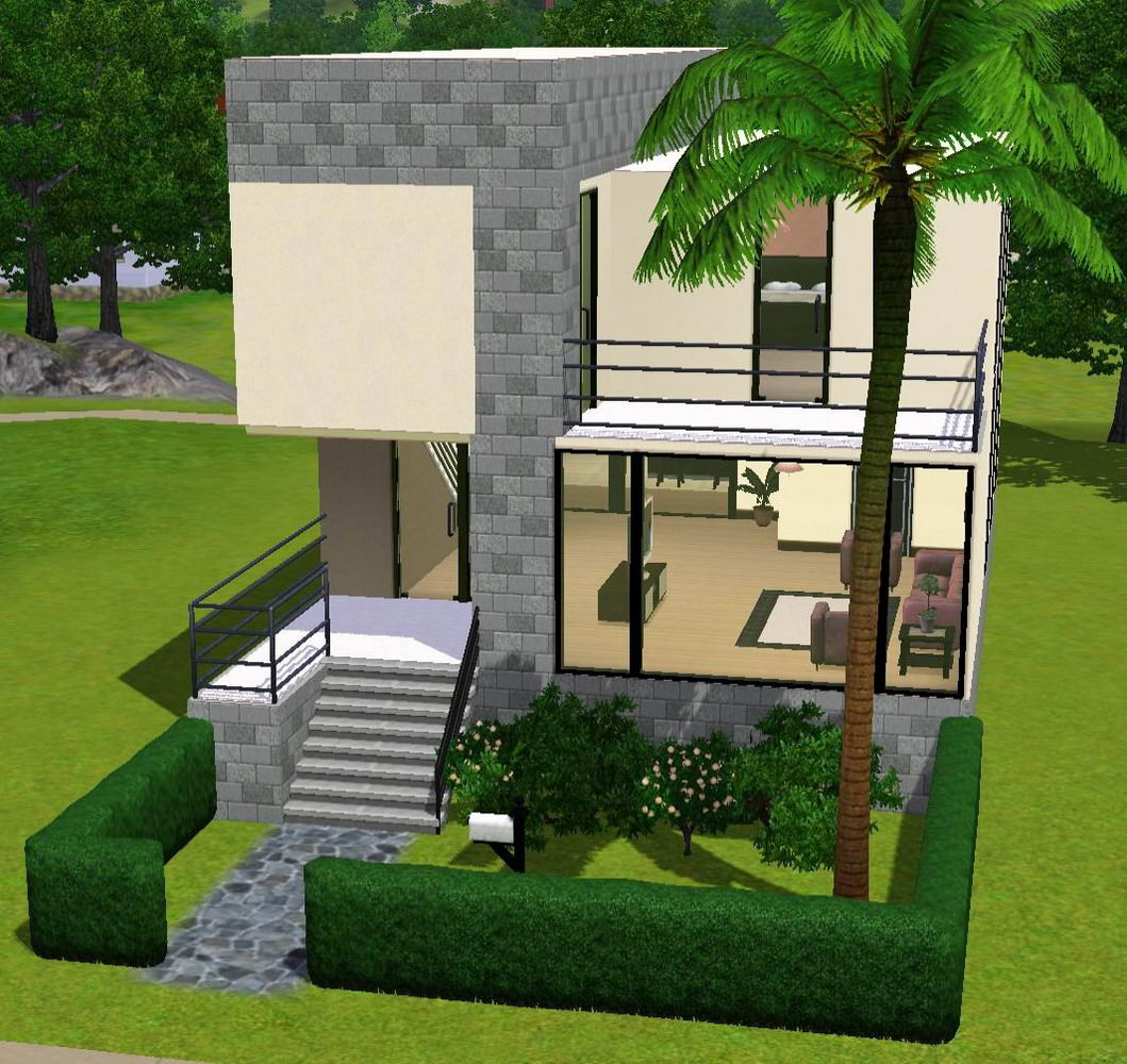 Mod the sims a small modern home for Tiny modern apartment