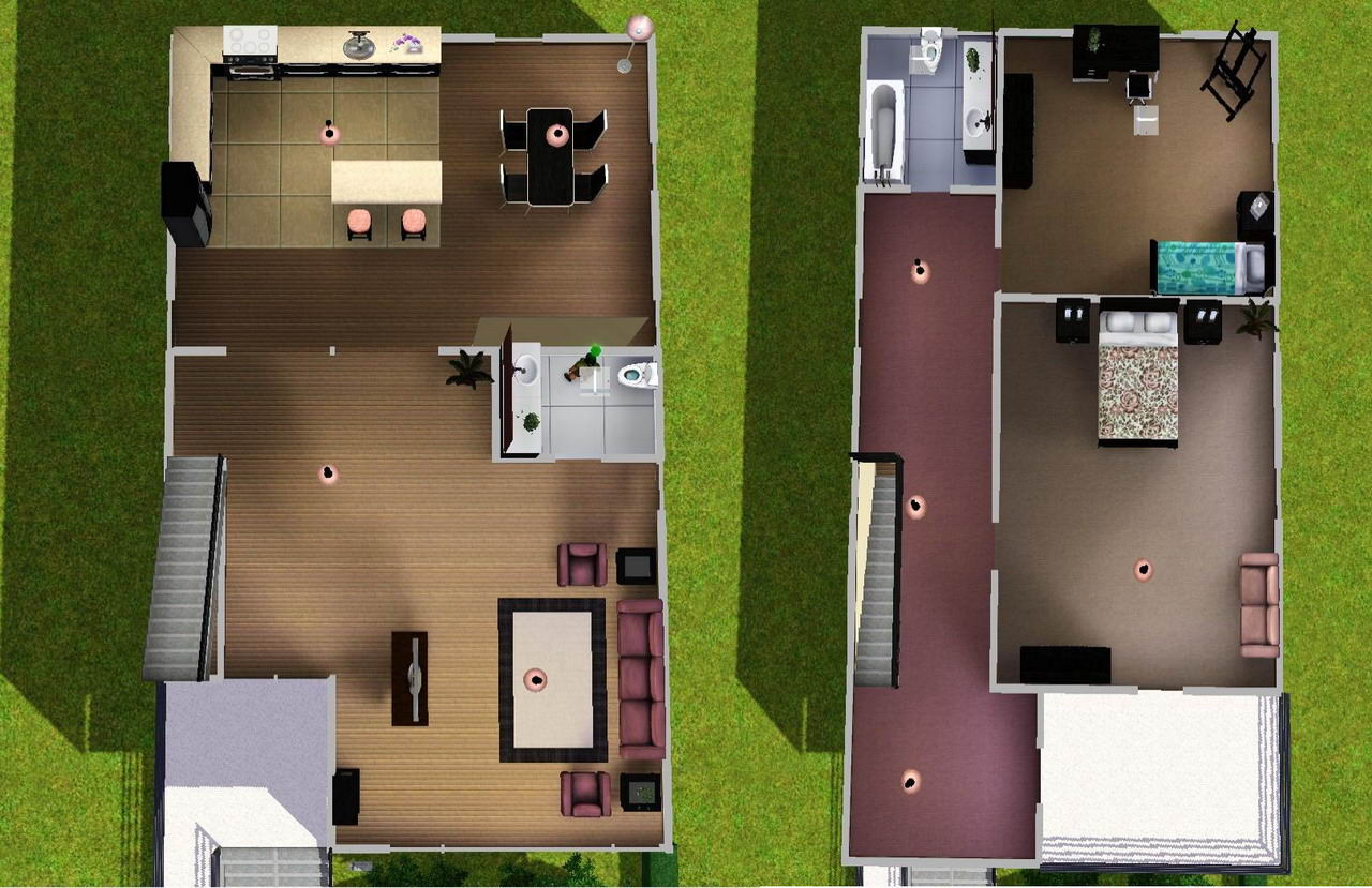 Mod the sims a small modern home for Modern house design reddit