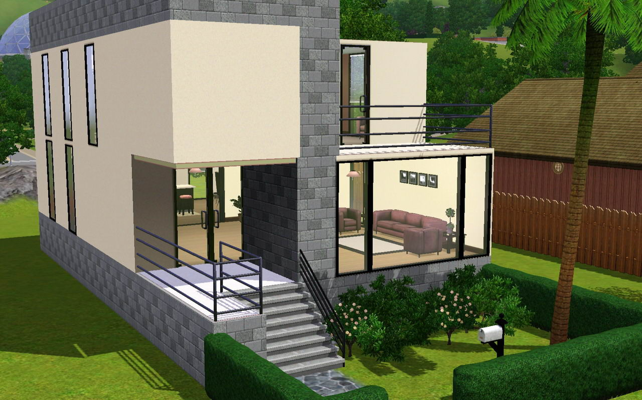 Mod the sims a small modern home for Sims 4 modern house plans