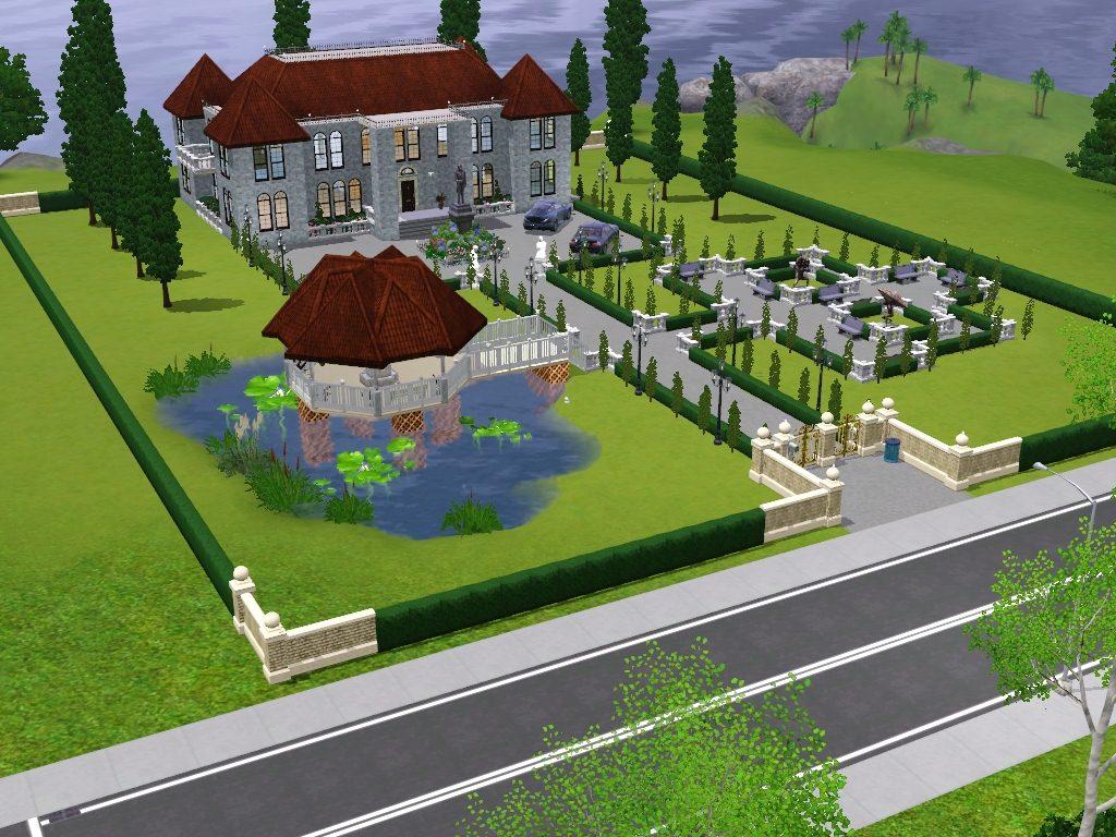 Mod the sims le ch teau moderne for Garden design sims 4