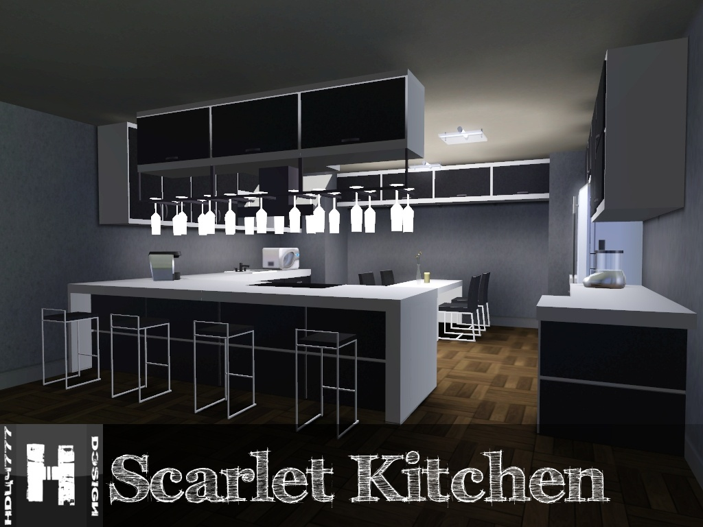 White And Black Dining Room Sets Mod The Sims Scarlet Kitchen 11 12 2011 Updated