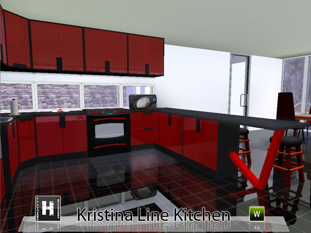 Mod the sims kristina line kitchen for Sims 3 kitchen designs