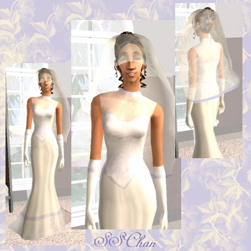 Wedding Altar Sims 2: Wedding Dress And Veil Set