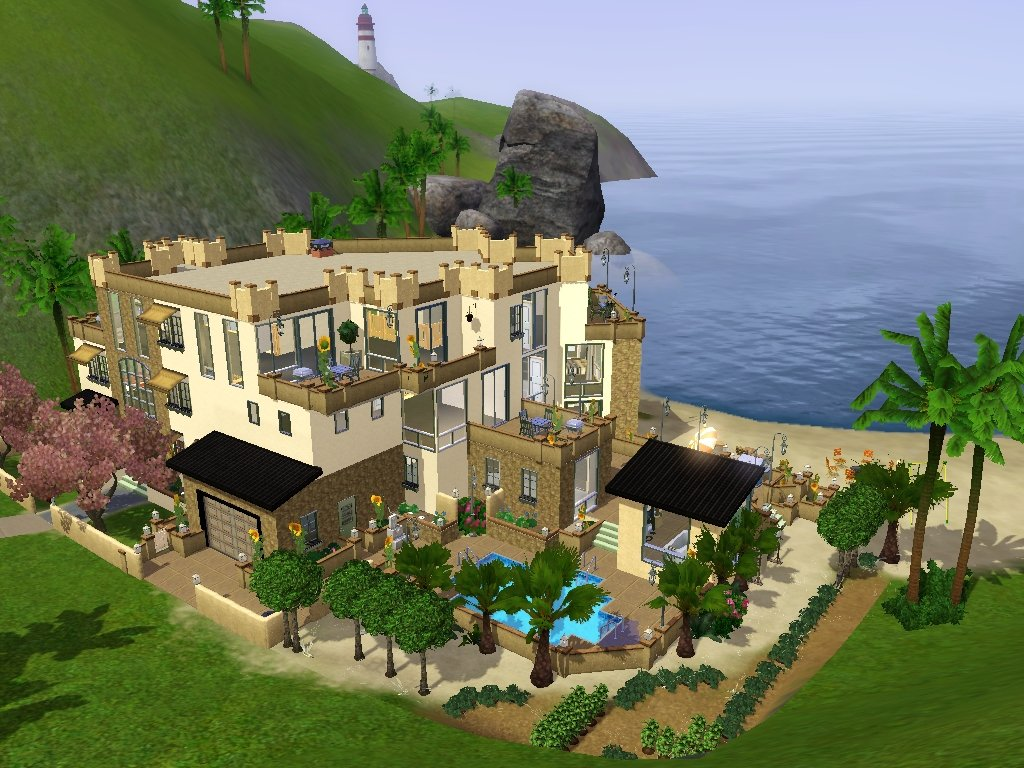 Mod the sims modern house with a view for Best house designs sims 3