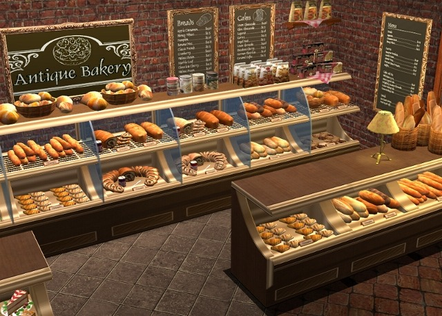 Mod the sims antique bakery set decorative foods and more - Decoratie snack ...