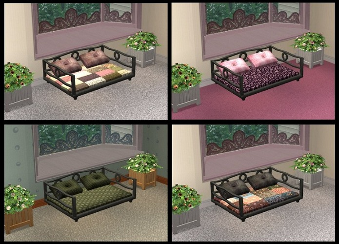 Mod The Sims Updated Roman Style Pet Bed