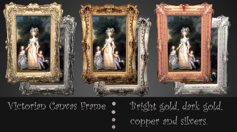 Mod The Sims Victorian Canvas Frames By Request
